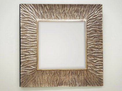 Zrkadlo Ismay square champagne 100 x 100 cm - Glamour Design 1