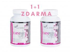 1+1 ZDARMA - SPALOVAČE TUKŮ CARNIFAST (Carnitine) + CARNIPLUS (s Argininem)