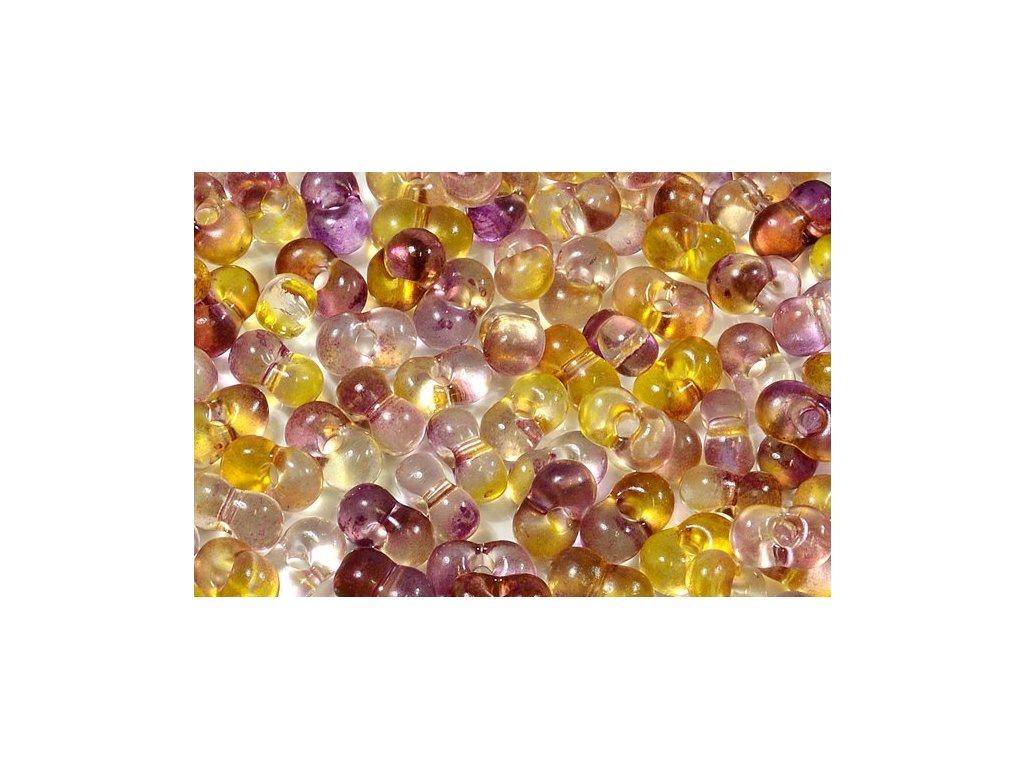 Farfalle 3x6,5 mm žlutofialové (4M007)