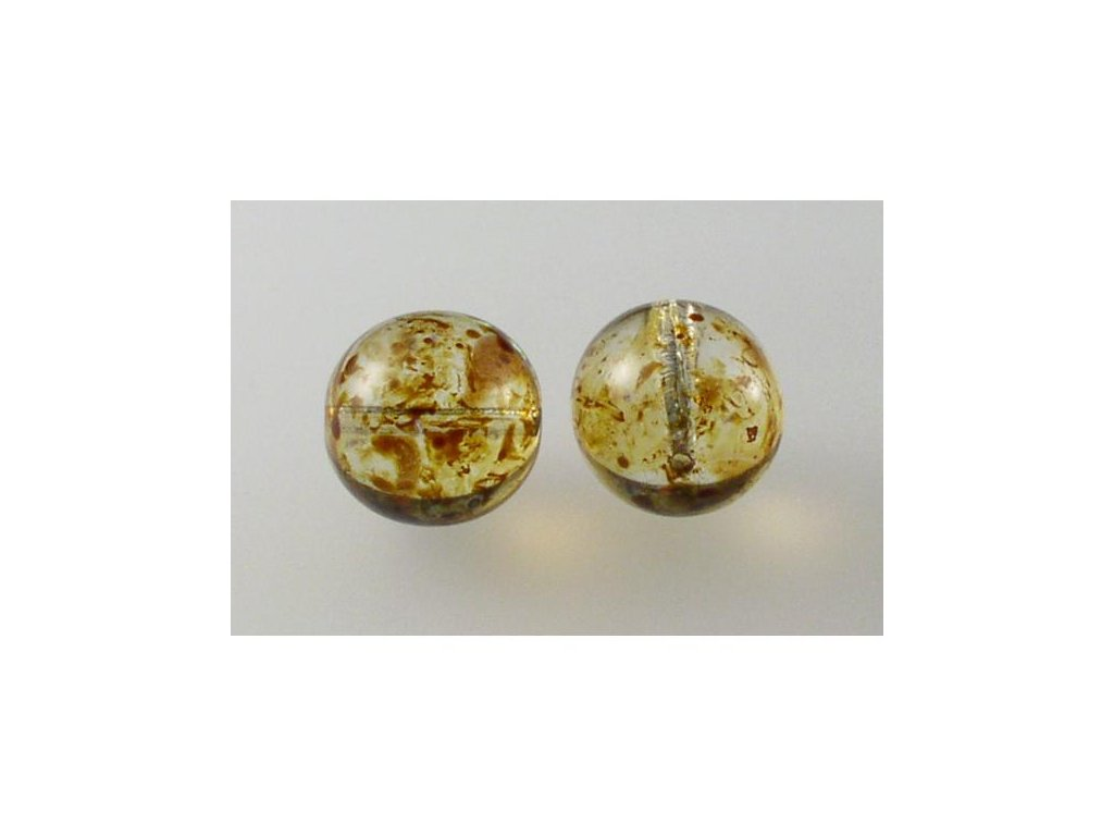 Mačkané kulaté korálky - 14 mm 00030/86800