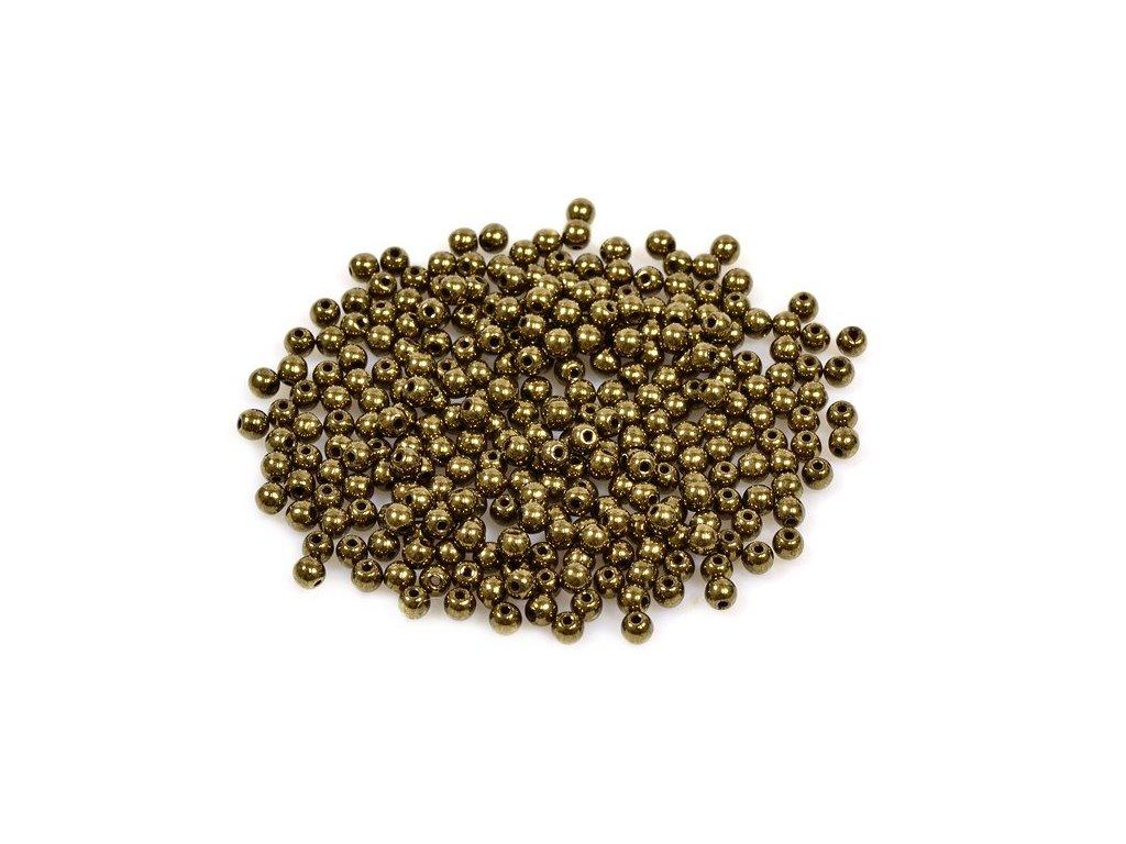 Mačkané kulaté korálky - 3 mm 23980/90215
