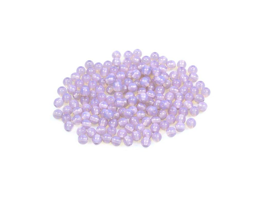 Mačkané kulaté korálky - 4 mm 21000
