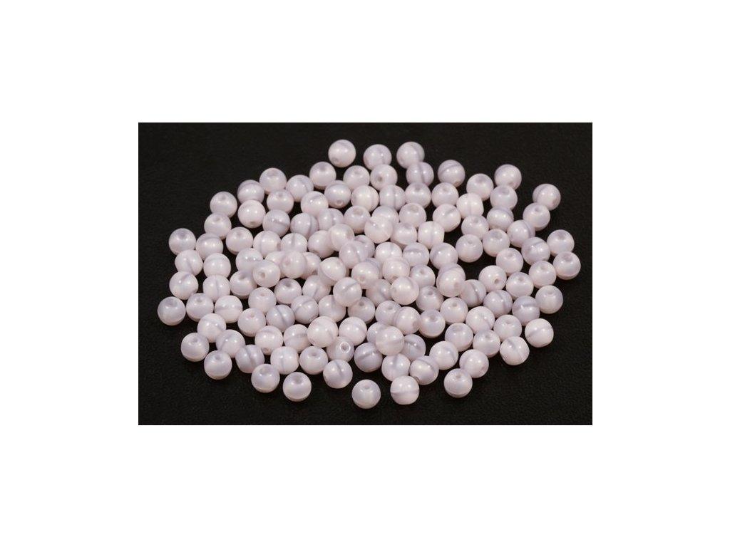 Mačkané kulaté korálky - 4 mm 21350