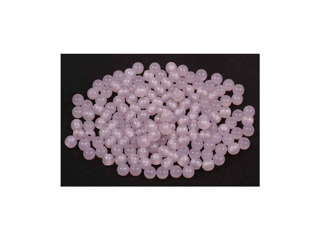 Mačkané kulaté korálky - 4 mm 22100