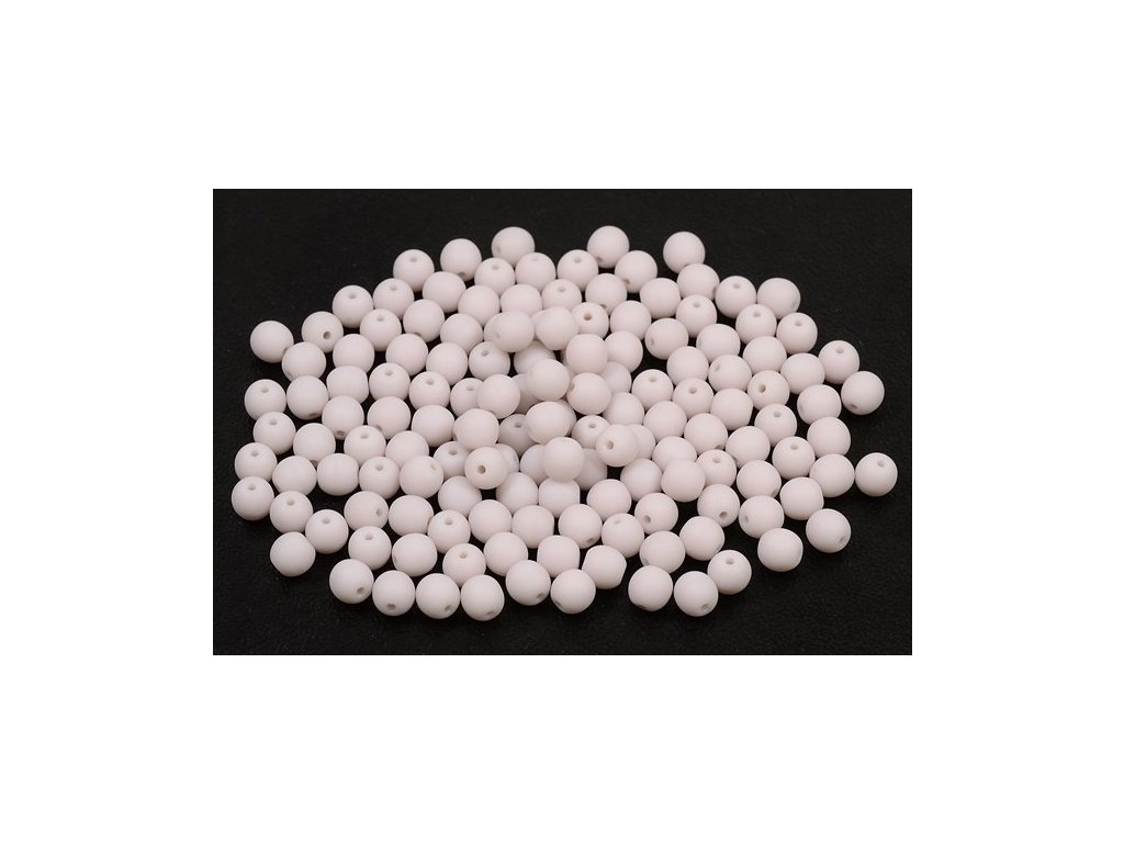 Mačkané kulaté korálky - 4 mm 23000/mat