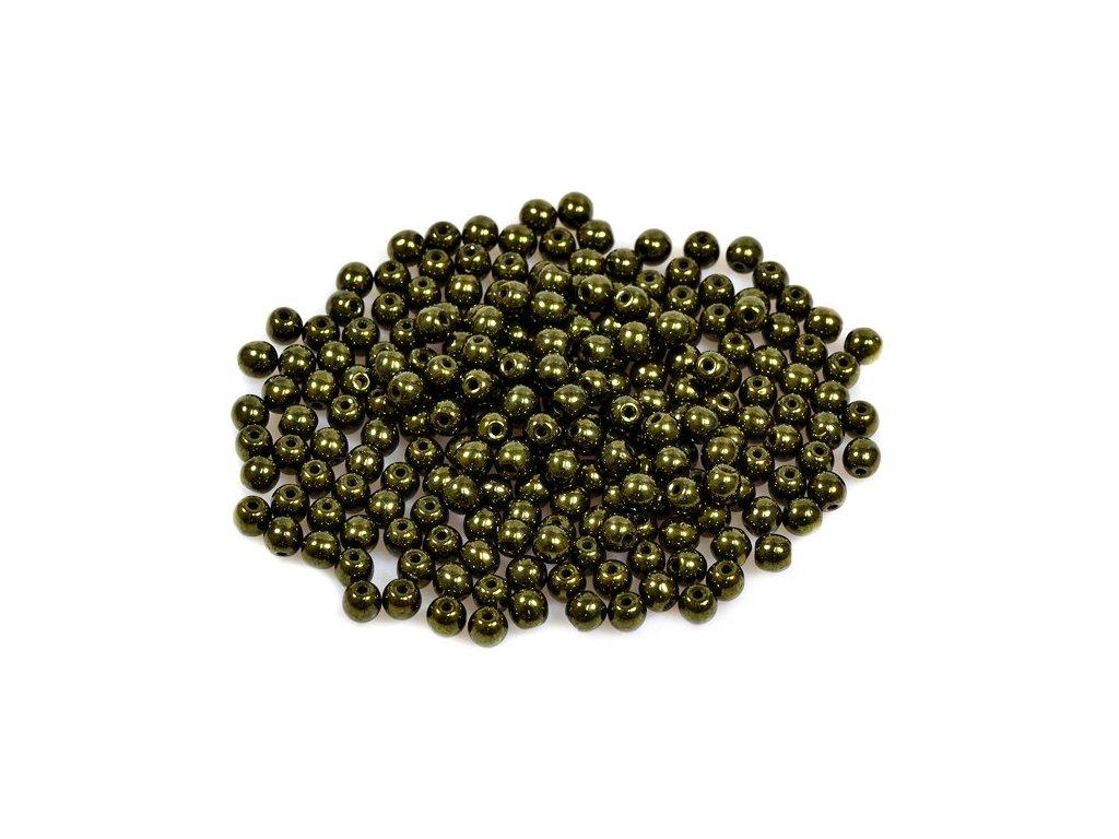 Mačkané kulaté korálky - 4 mm 23980/14495