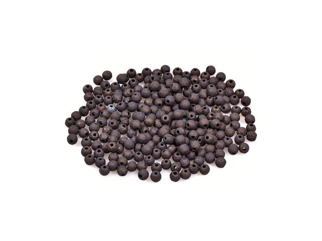 Mačkané kulaté korálky - 4 mm 23980/84547