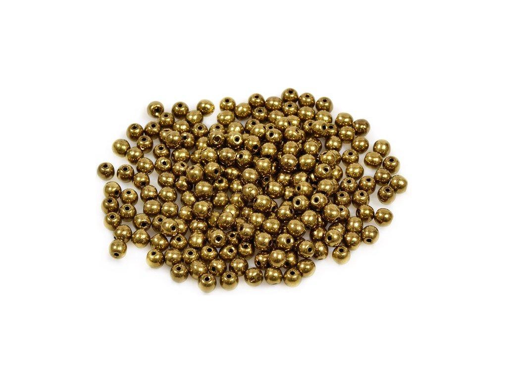 Mačkané kulaté korálky - 4 mm 23980/90215