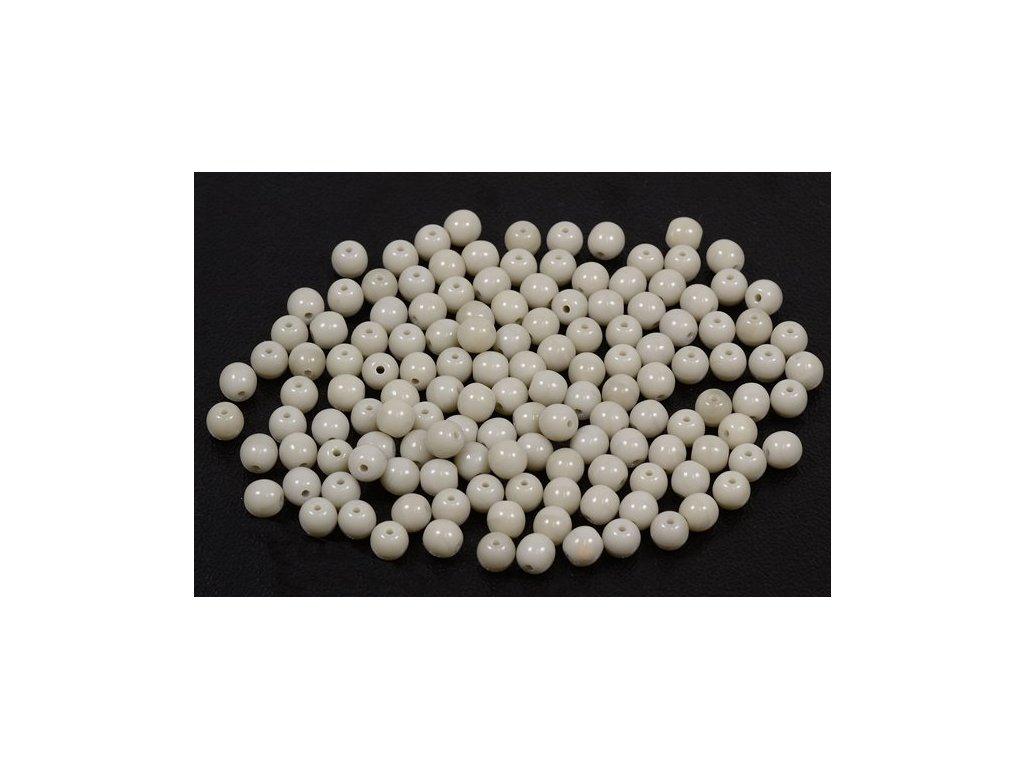Mačkané kulaté korálky - 4 mm 43000