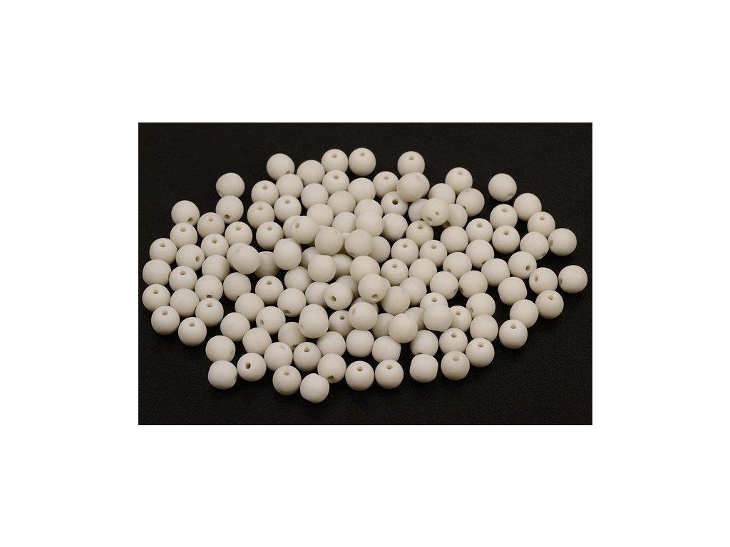 Mačkané kulaté korálky - 4 mm 43000/mat