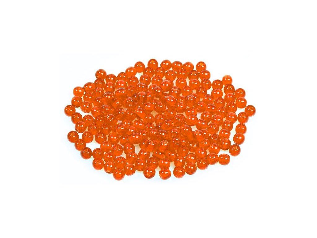 Mačkané kulaté korálky - 4 mm 90030