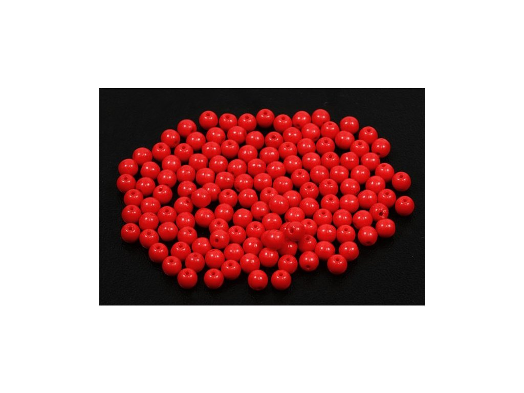 Mačkané kulaté korálky - 4 mm 93190