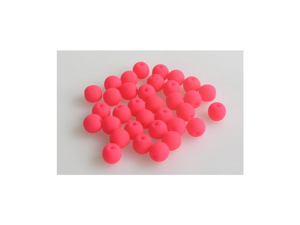 Mačkané kulaté korálky - 6 mm 03000/25123
