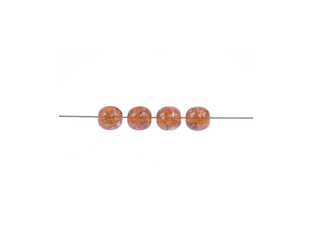 Práskané kulaté korálky - 6 mm 10220/85500