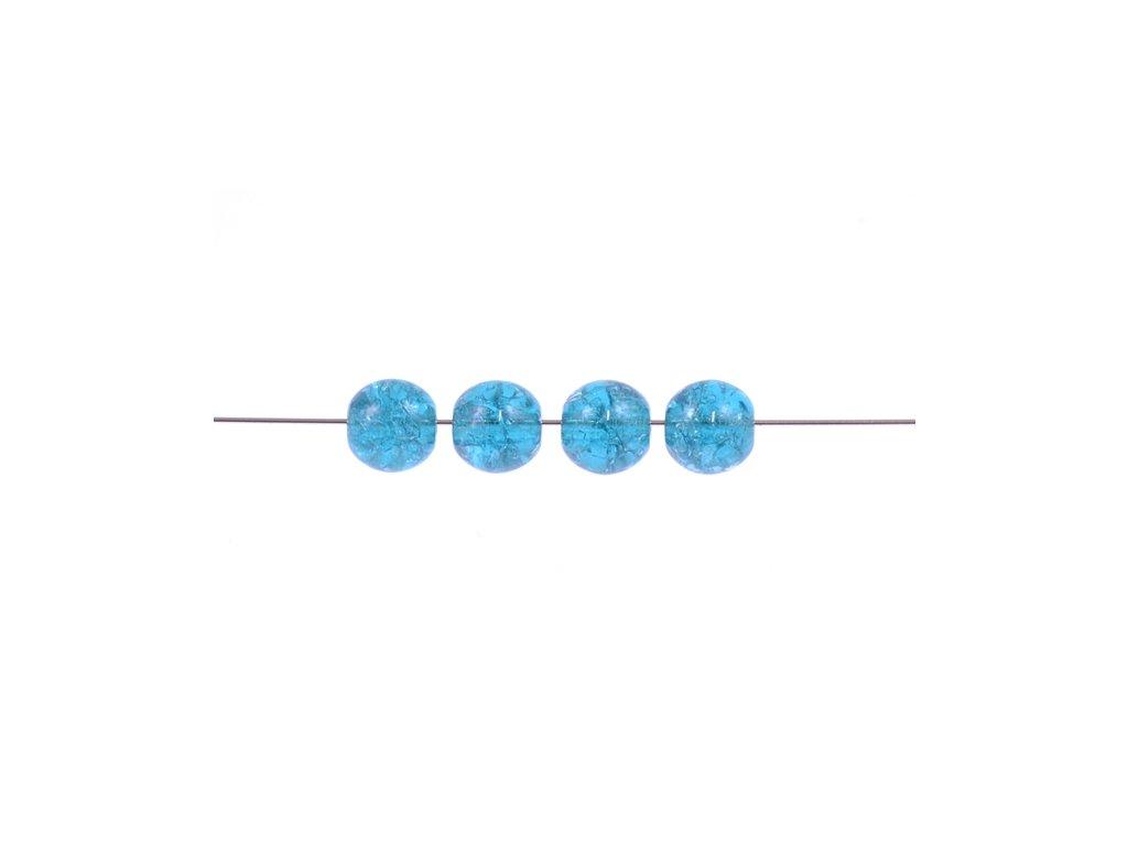 Práskané kulaté korálky - 6 mm 60150/85500