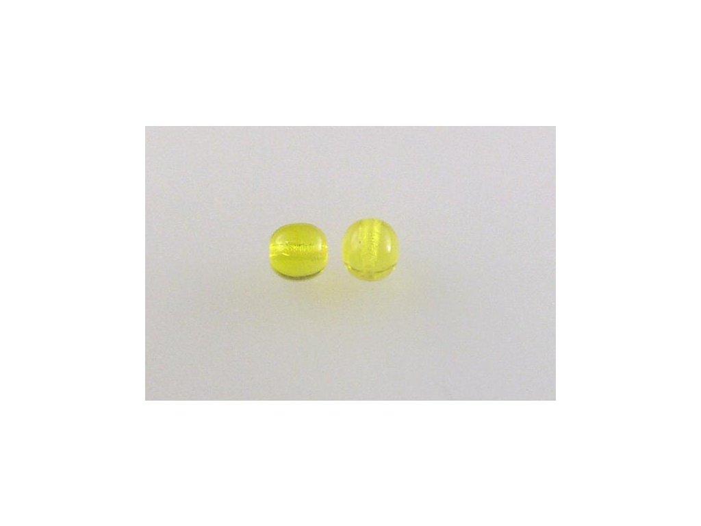 Mačkané kulaté korálky - 6 mm 80000