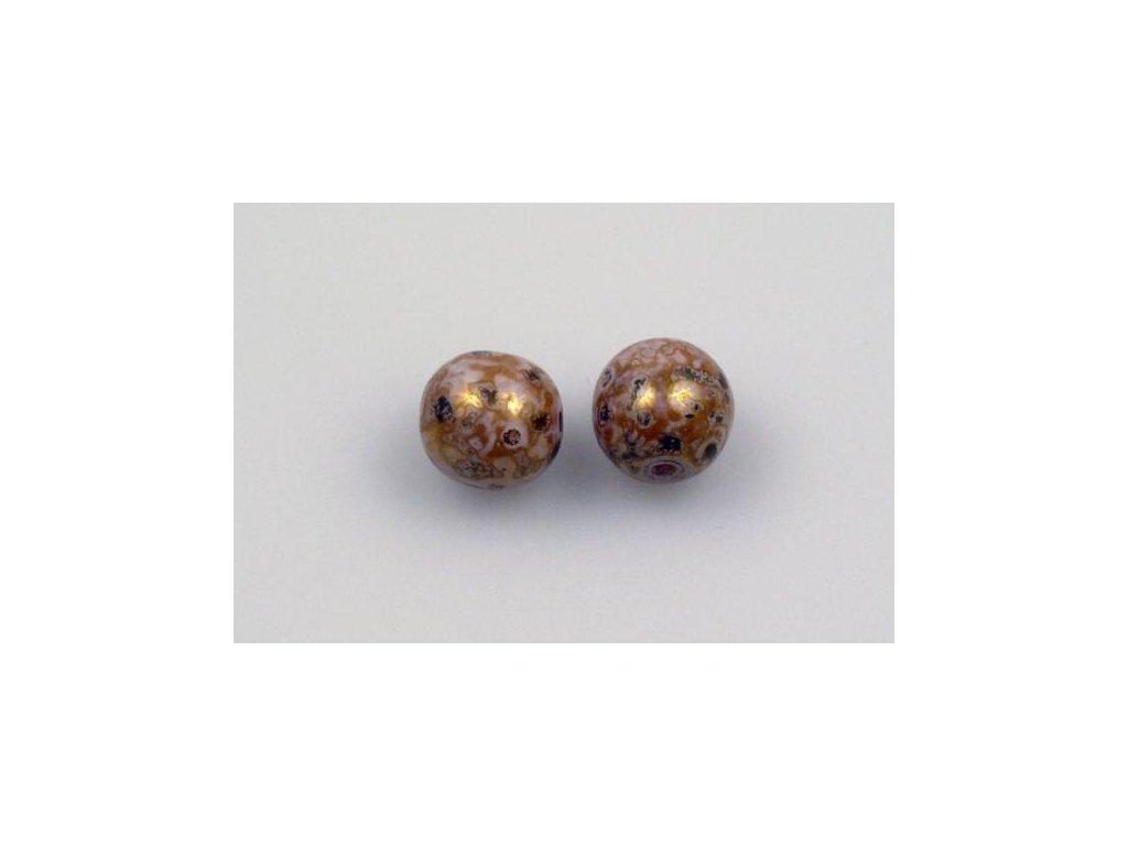 Mačkané kulaté korálky - 8 mm 03000/15422