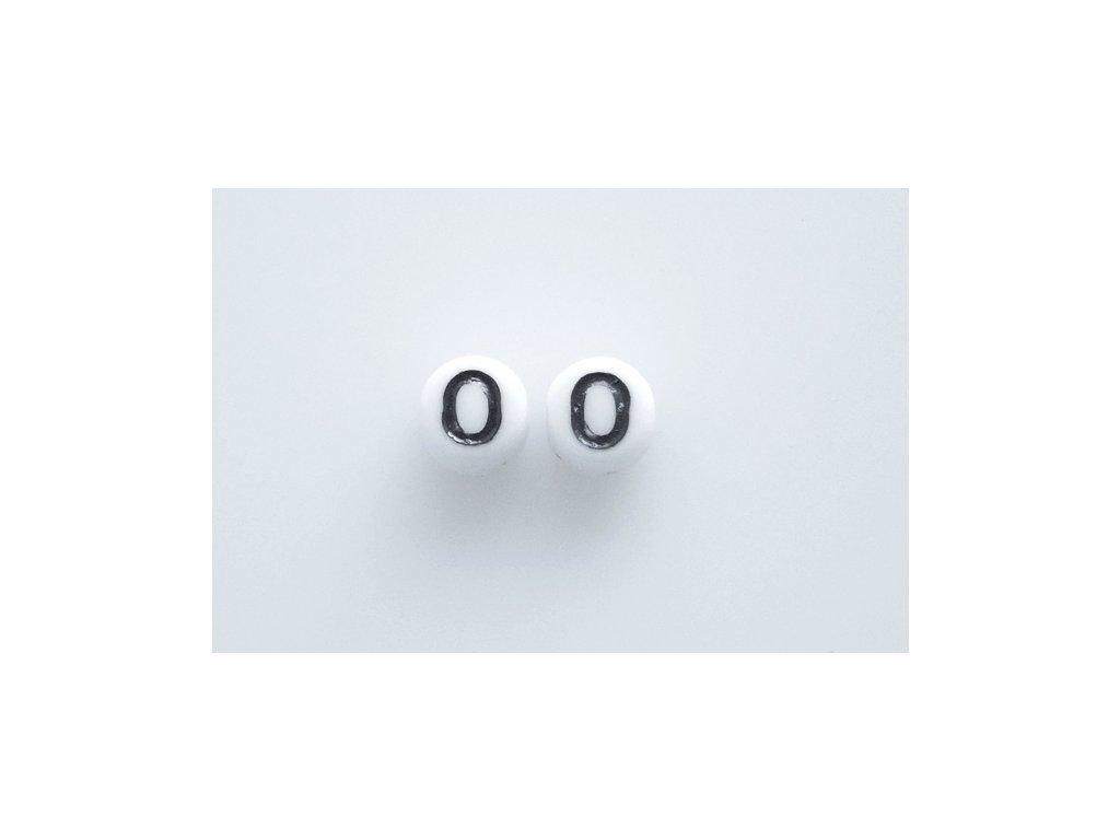 """Korálky s čísly """"0"""" 11130218 6 mm 03000/46449"""