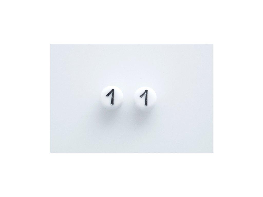 """Korálky s čísly """"1"""" 11130218 6 mm 03000/46449"""