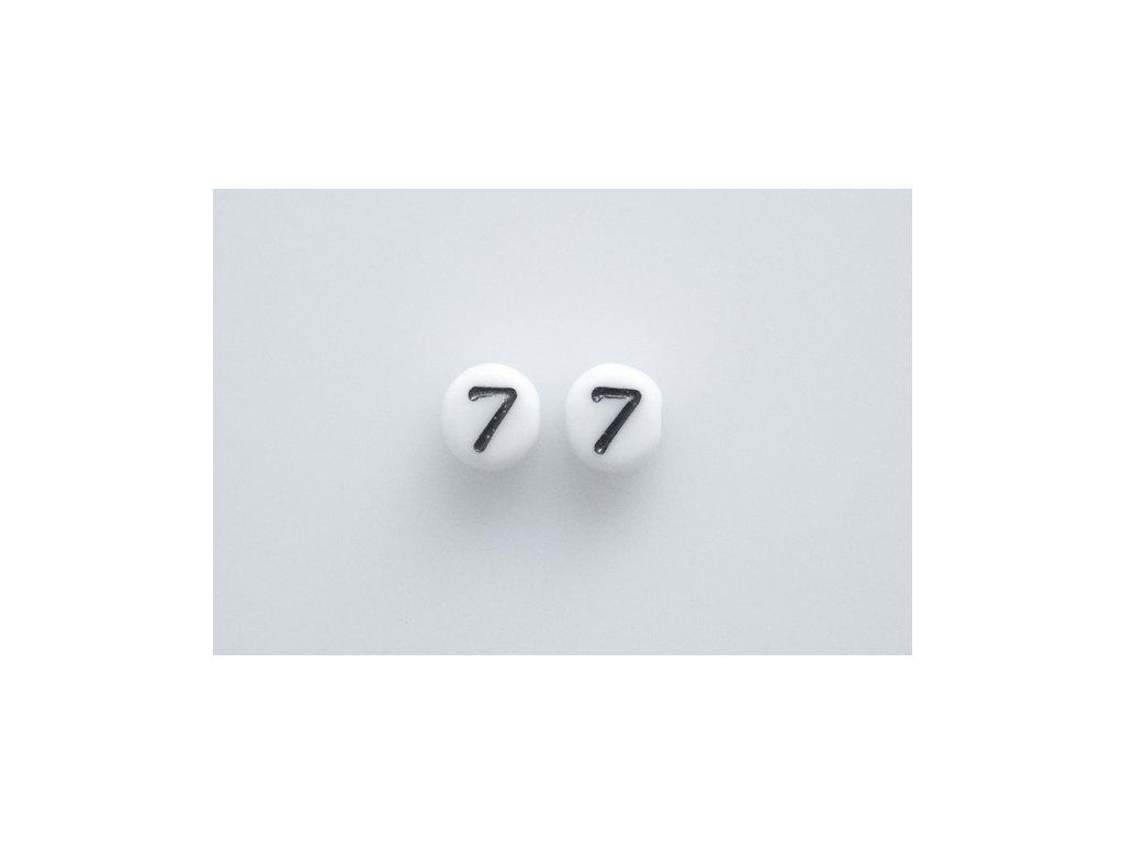 """Korálky s čísly """"7"""" 11130218 6 mm 03000/46449"""
