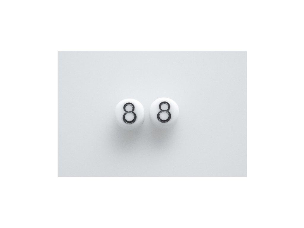 """Korálky s čísly """"8"""" 11130218 6 mm 03000/46449"""