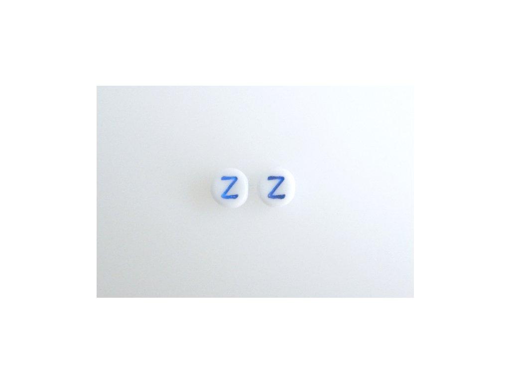"""Korálky s modrým  písmenkem """"Z"""" 11149220 6 mm 03000/46433"""