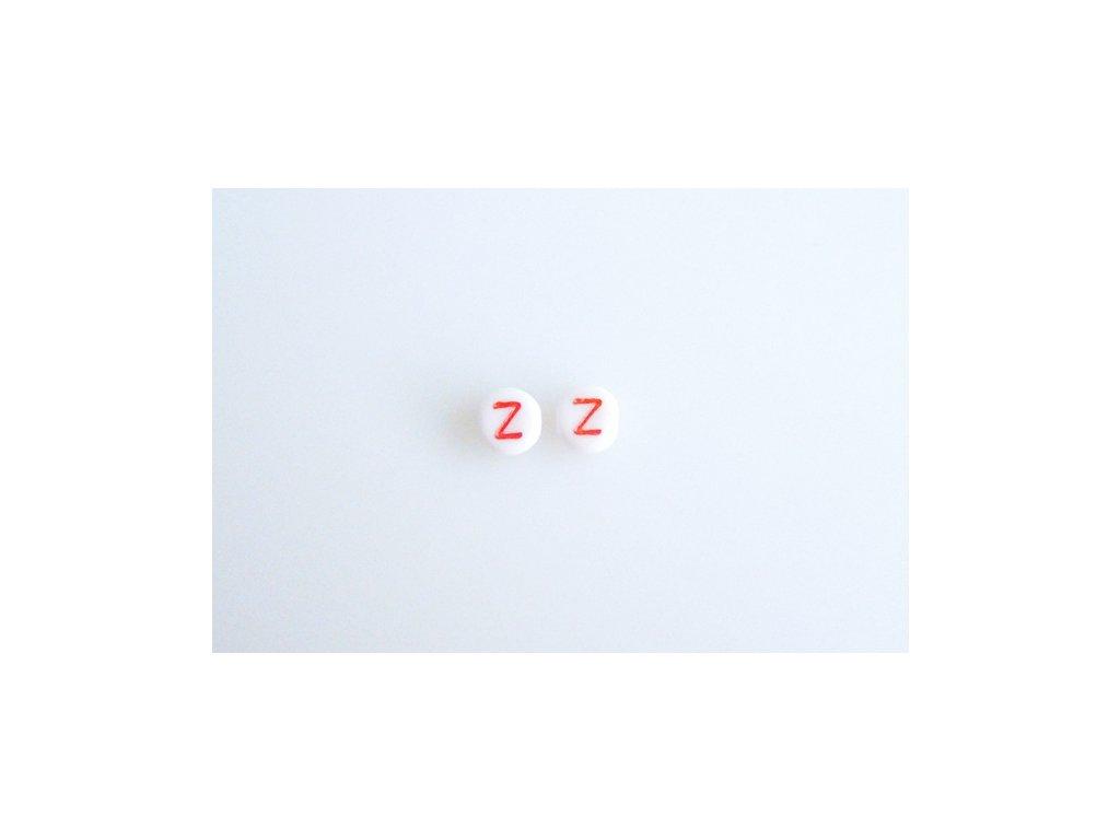"""Korálky s červeným písmenkem """"Z"""" 11149220 6 mm 03000/46497"""