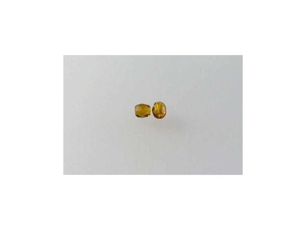 Broušené korálky - ohňovky 3 mm 10120