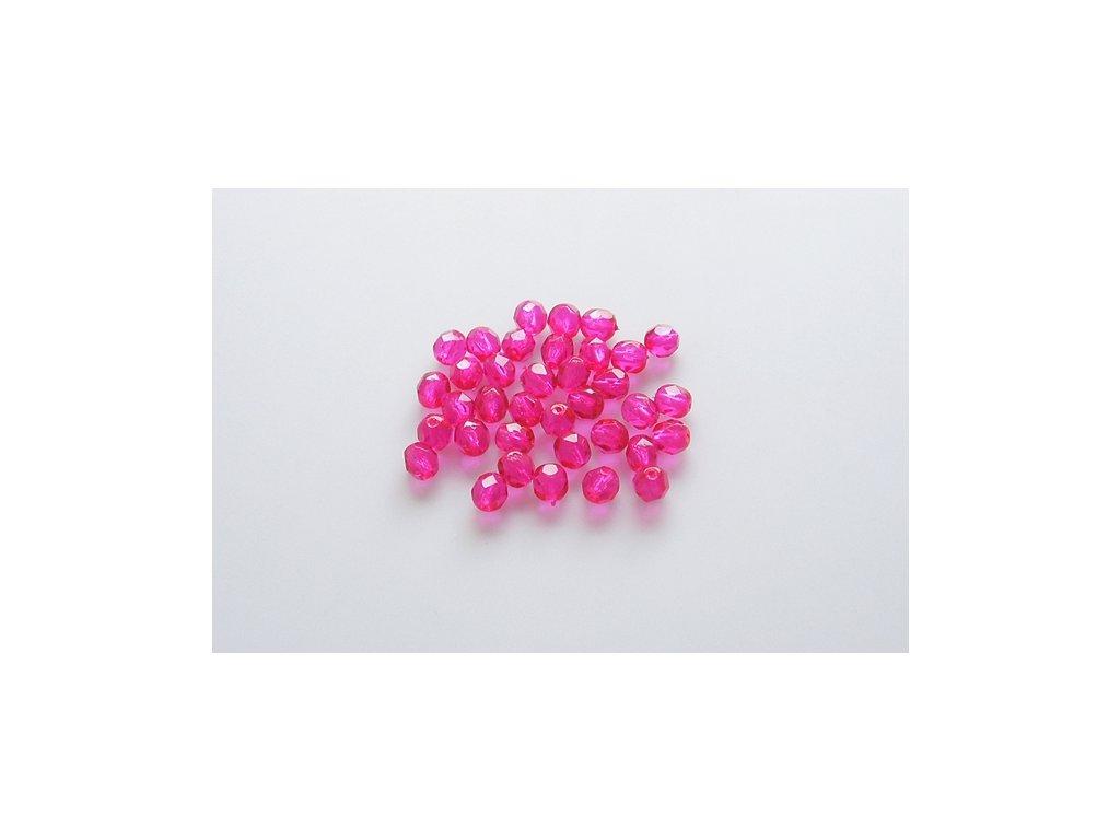 Broušené korálky - ohňovky 6 mm 00030/45476