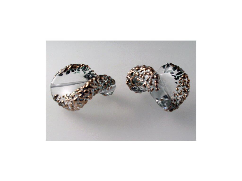 Kroucená špíglovaná perla 30x17 mm 00030