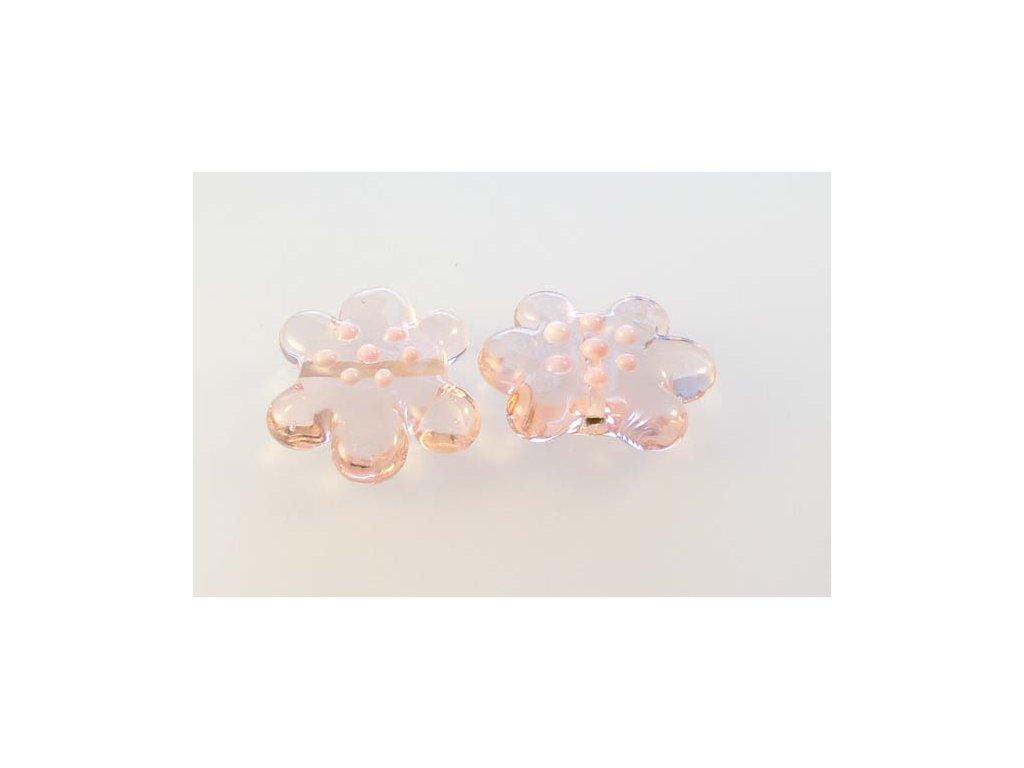 Ručně navíjená perle - kytička