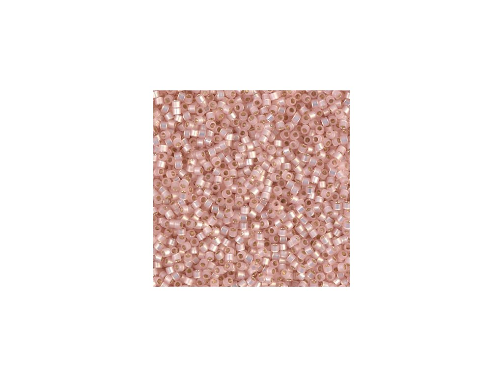 MIYUKI Delica 11/0 Silver Lined Lt. Pink Alabaster Dyed