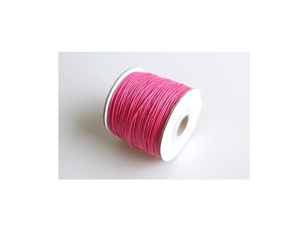 Vosková šňůra 1 mm růžová