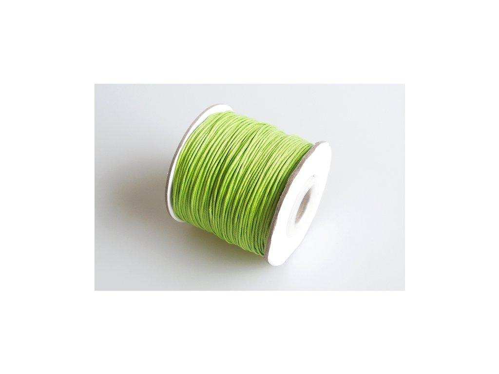 Vosková šňůra 1 mm zelena