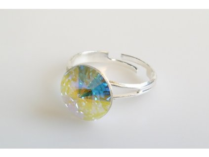 Prsten Rivoli 12 mm crystal AB  made with Swarovski®  Elements