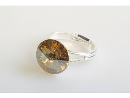 Prsten Rivoli 12 mm crystal golden shadow made with Swarovski®  Elements