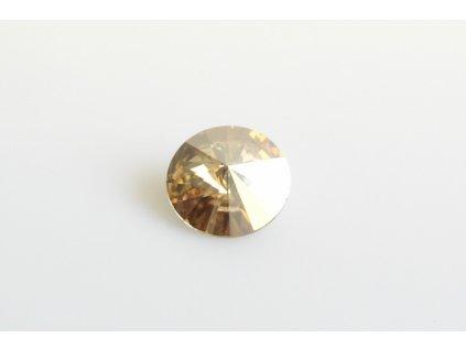 SWAROVSKI ELEMENTS Rivoli 1122 12 mm crystal golden shadow