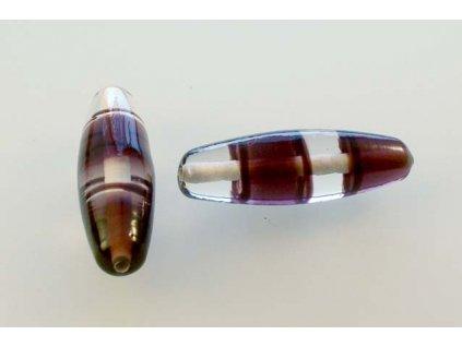 Ručně navíjená perle - oliva
