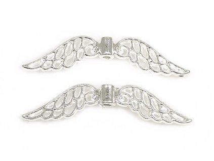 Přívěsek křídla 32x7 mm - stříbro