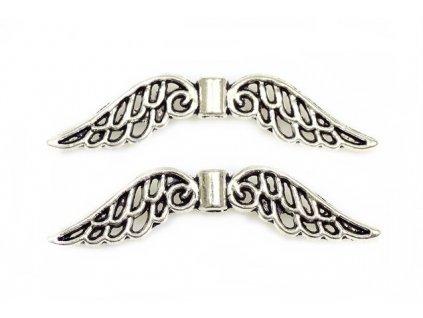 Přívěsek křídla 32x7 mm - starostříbro