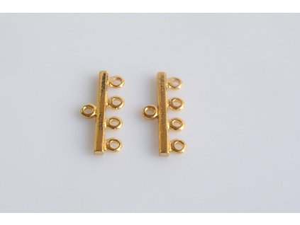 Ramínko 4 řady - zlato