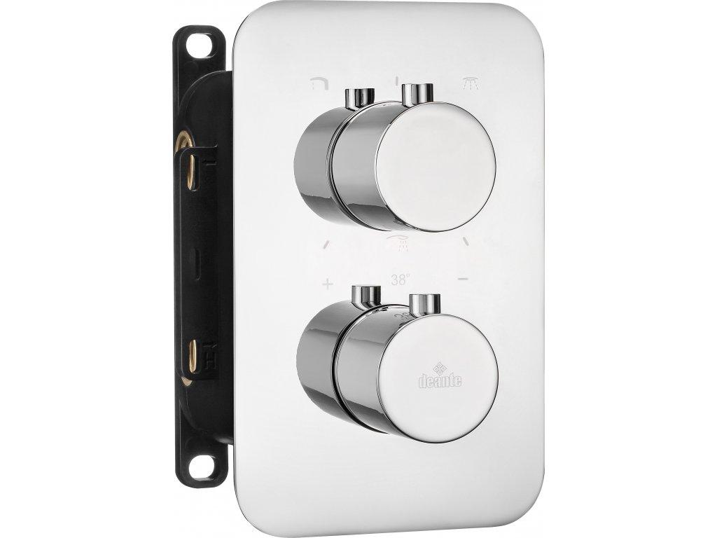 Deante Box Vonkajší prvok pre termostatický BOX - guľatý Čierna