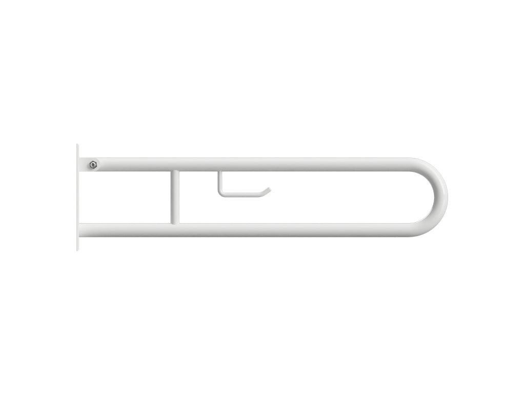 Bemeta HELP Sklopný úchyt v tvare U s držiakom na TP 900 mm, biely (Farba Biela)