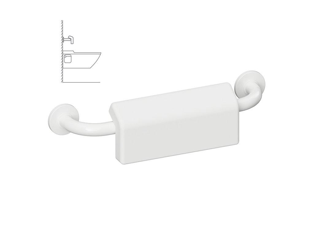 47421 1 bemeta help madlo 500 mm biele s krytkou a gumickou