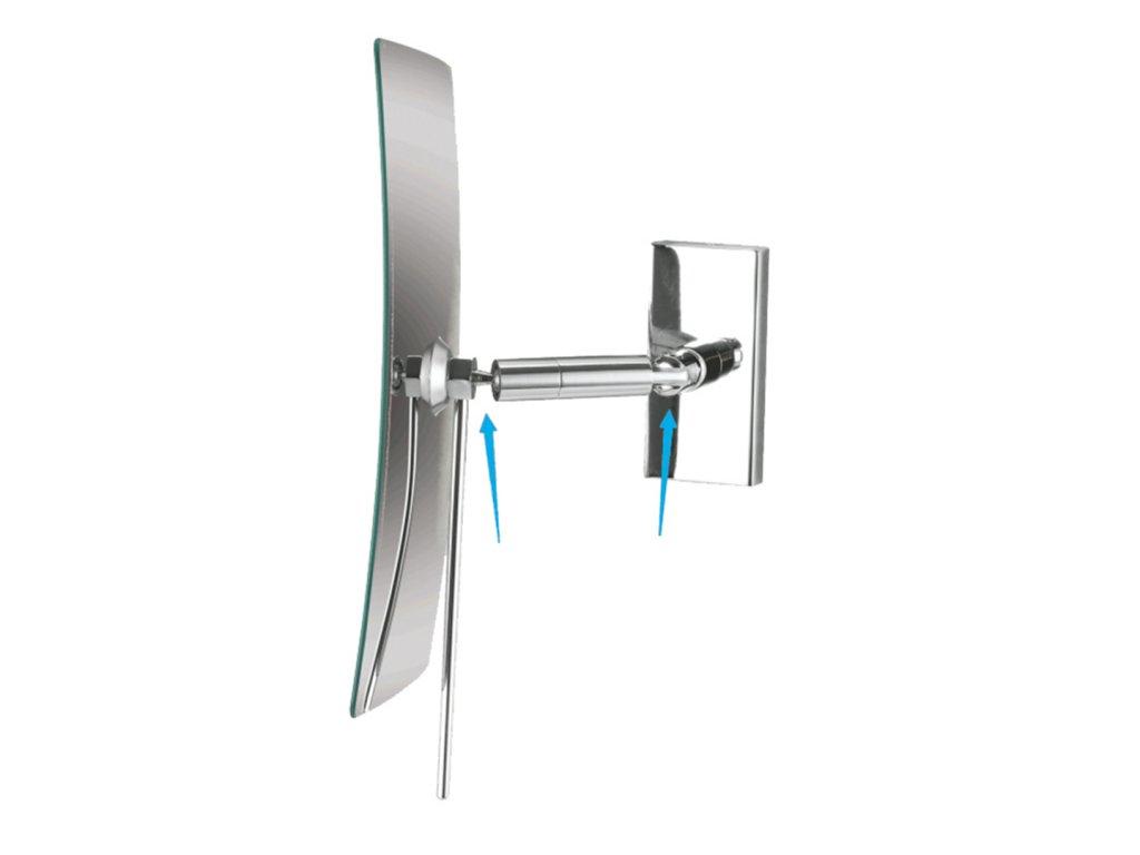 47802 1 bemeta kozmeticke zrkadlo jednostranne hranate s klbom 360 3x