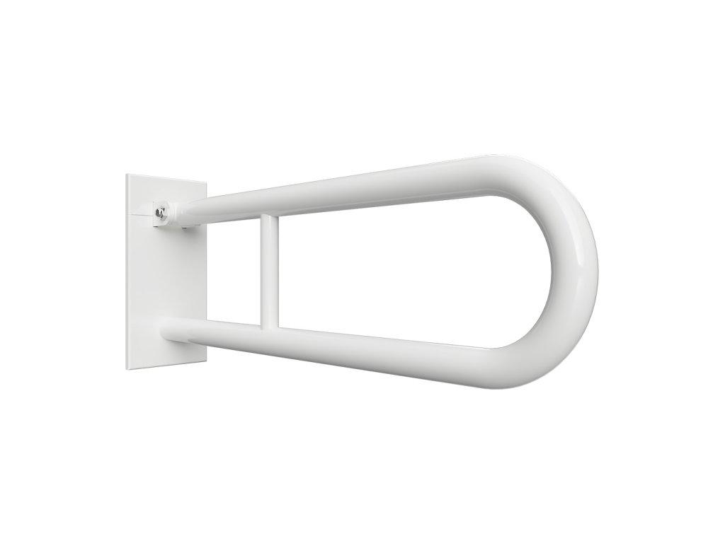Bemeta HELP Sklopný úchyt v tvare U 750 mm, biely, s krytkou (Farba Biela)