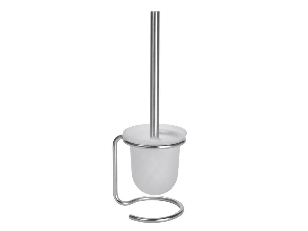 Bemeta NEO: WC kefa miska sklo, na postavenie, biela kefa (Farba Čierna)