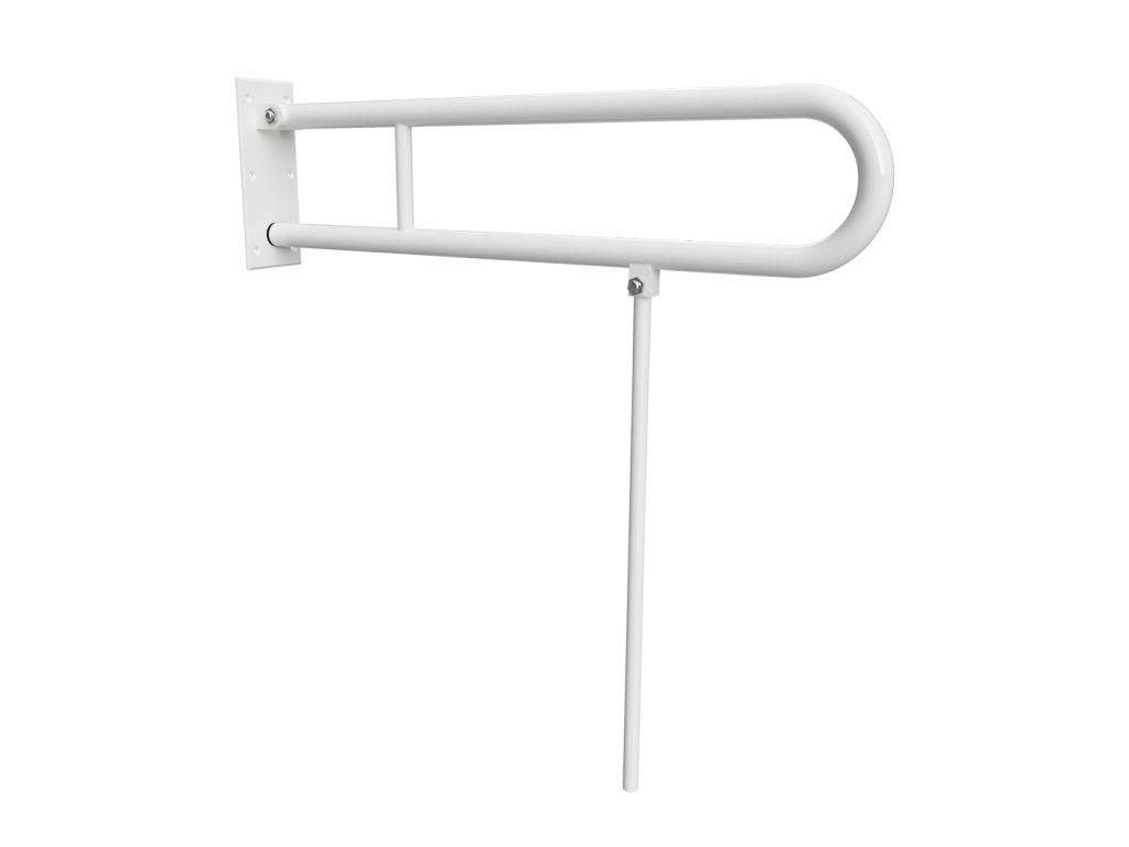 Bemeta HELP: Sklopný úchyt v tvare U s opornou nohou 850 mm, biely (Farba Biela)
