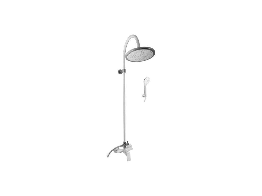 Slezák-Rav Batéria sprchová s hlavovou a ručnou sprchou COLORADO, biela/chróm, 100 mm (Farba Biela/Chróm, Veľkosť 150 mm)