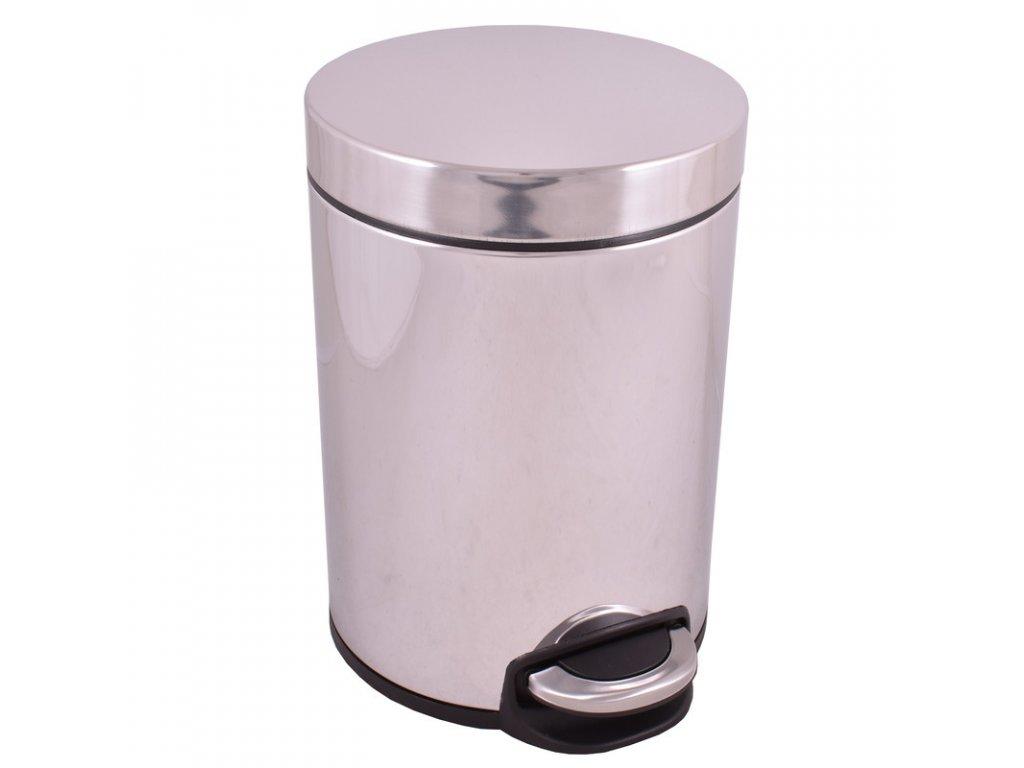 55782 slezak rav odpadkovy kos 5 litrov nerez lesk